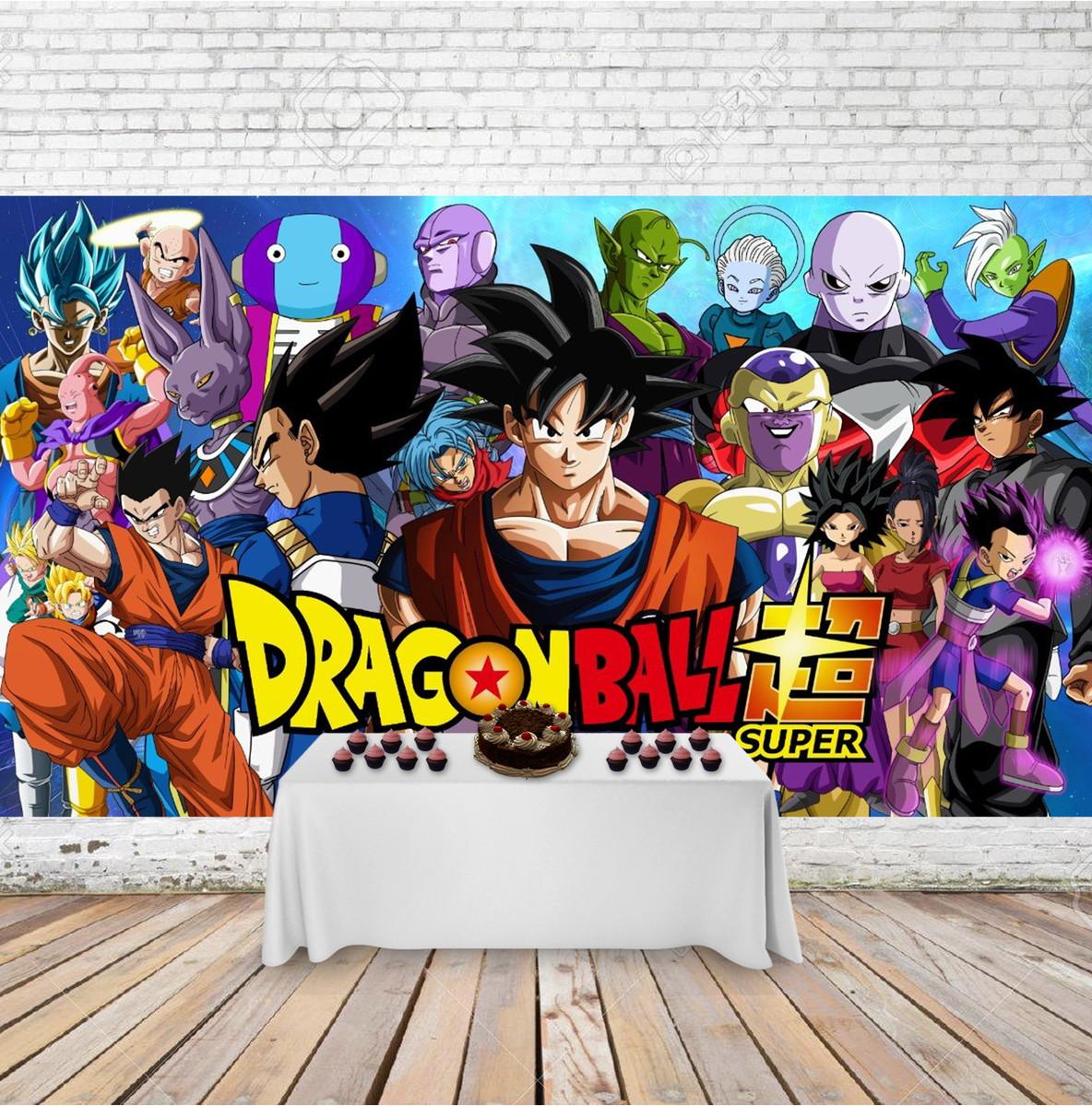 Painel Festa Infantil Desenho Infantil Dragon Ball Z 3x2