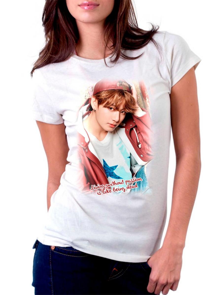 2e710a9006c9a Zoom · Camiseta ou Baby Look BTS Jeon Jungkook Bangtan Boys