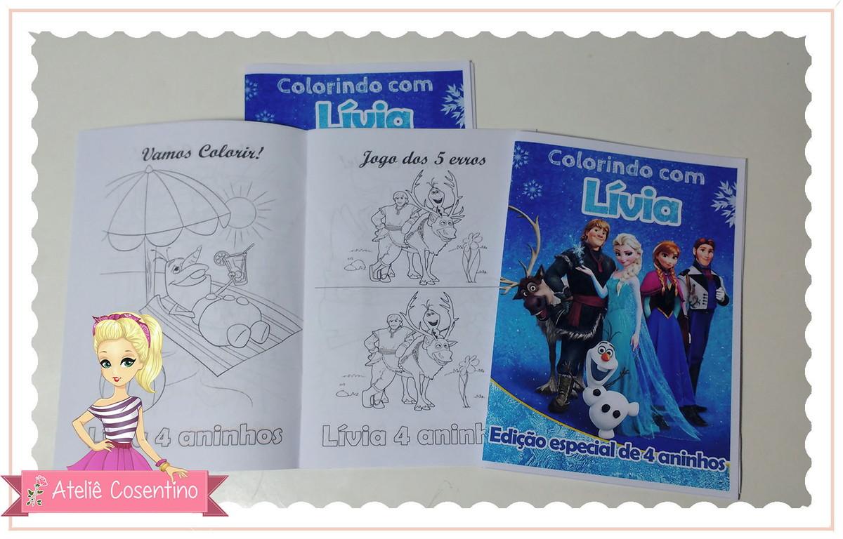 Mini Livro Colorir 10x14cm Frozen No Elo7 Atelie Cosentino