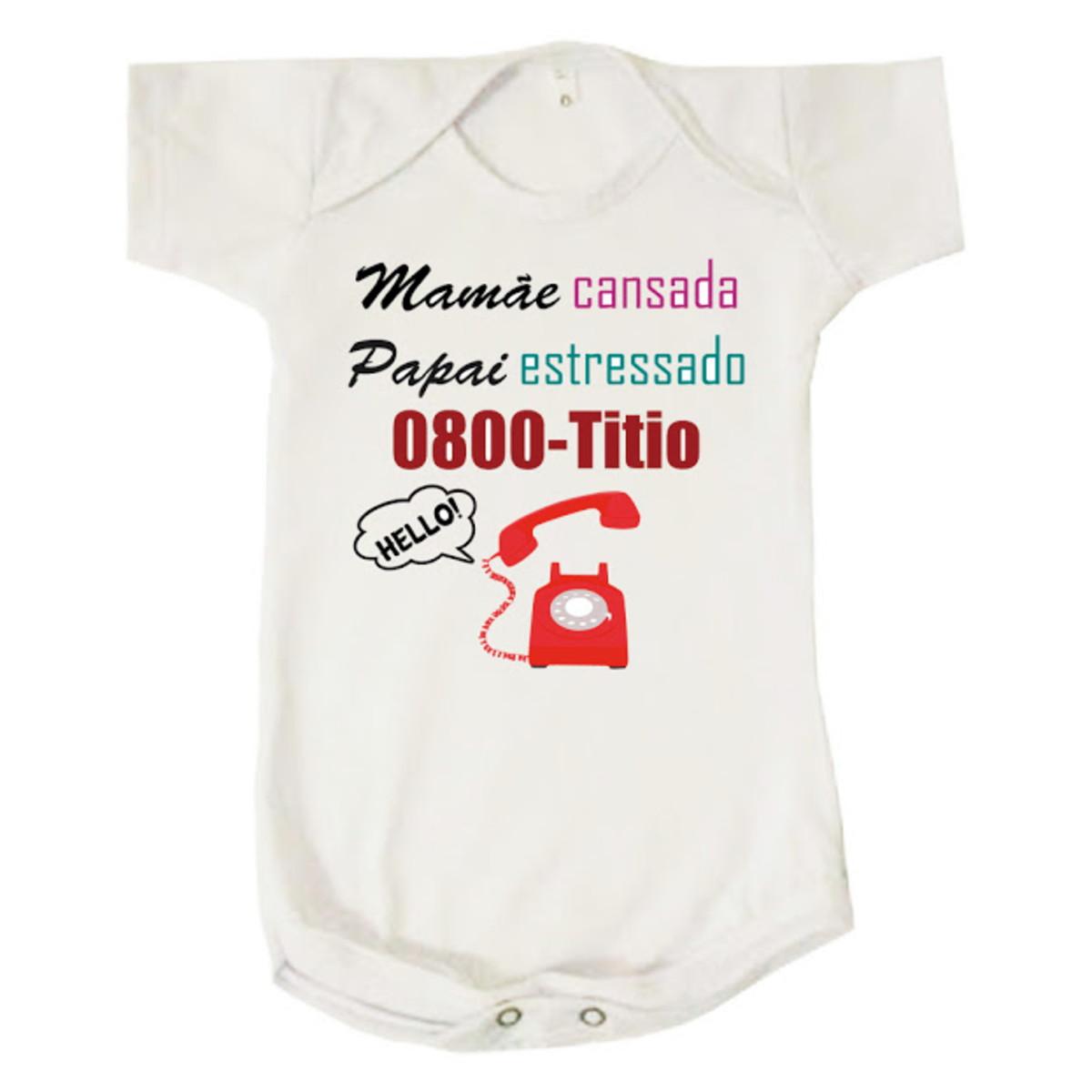 f62b17443 Body Bebê Infantil Mamãe Papai 0800 Titio Neutro no Elo7 | Loja ...