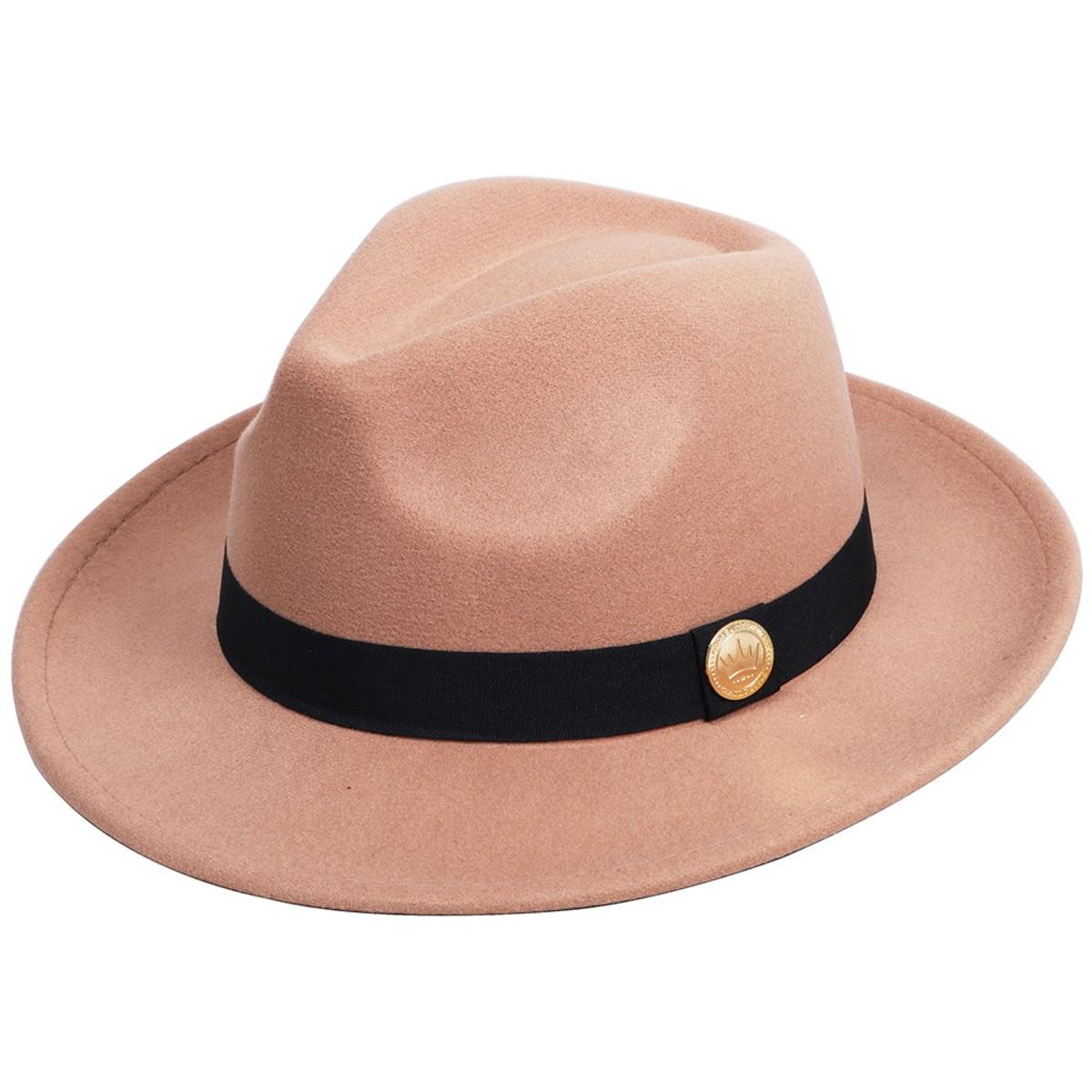 Chapéu Real Arte Fedora Aba Curta Cinza - Compre Agora
