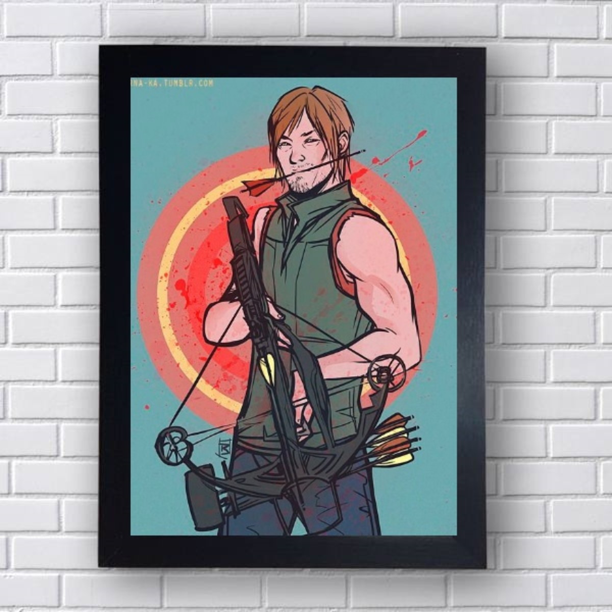 Poster Daryl Serie The Walking Dead No Elo7 Rsdecore E760ae