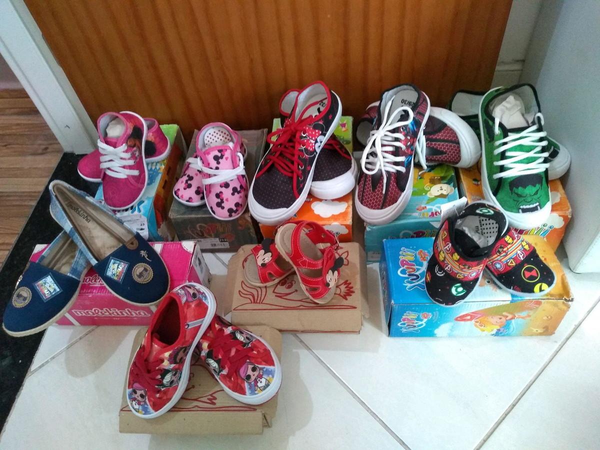 af8b863ae6d Lote de 20 pares de calçados infantis no Elo7