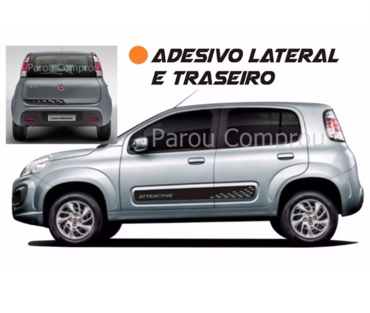 fc75da23d Adesivo Lateral Novo Uno Sttractive e Traseira Faixa Fita no Elo7 ...