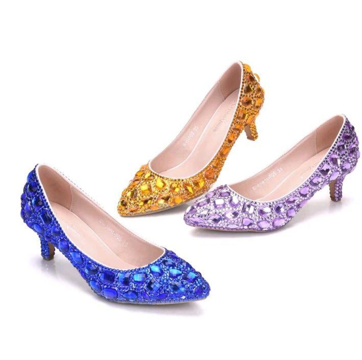 17edf9e9c Sapato de Debutante lilás prata azul dourado personalizado no Elo7 ...