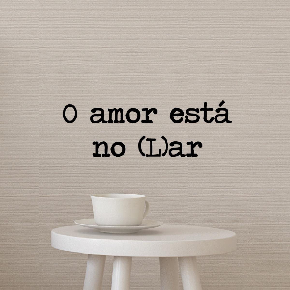 Adesivos de Parede O Amor Esta no Lar - FRETE GRÁTIS no Elo7 ... d1e4300dbd04f