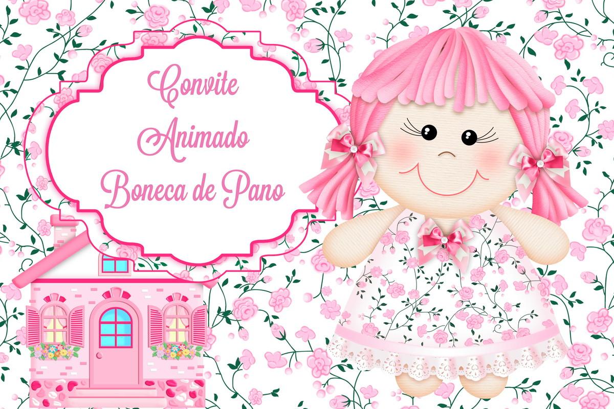 Convite Animado Boneca De Pano No Elo7 Carol Artes Mimos