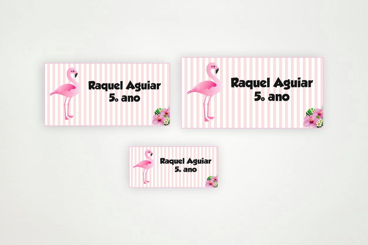 Etiqueta Escolar Flamingo Para Imprimir