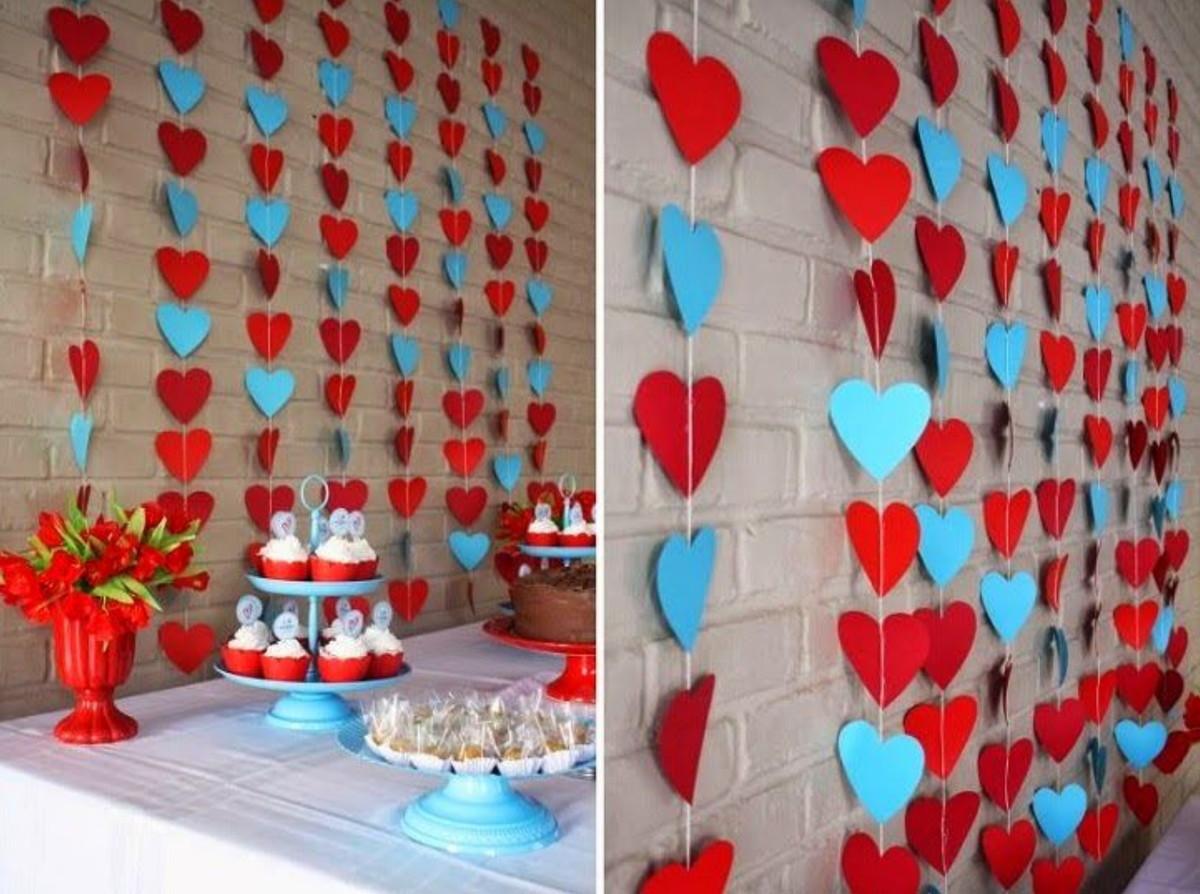 Cortina de Coração em papel de decoração festas eventos 10 un no ...