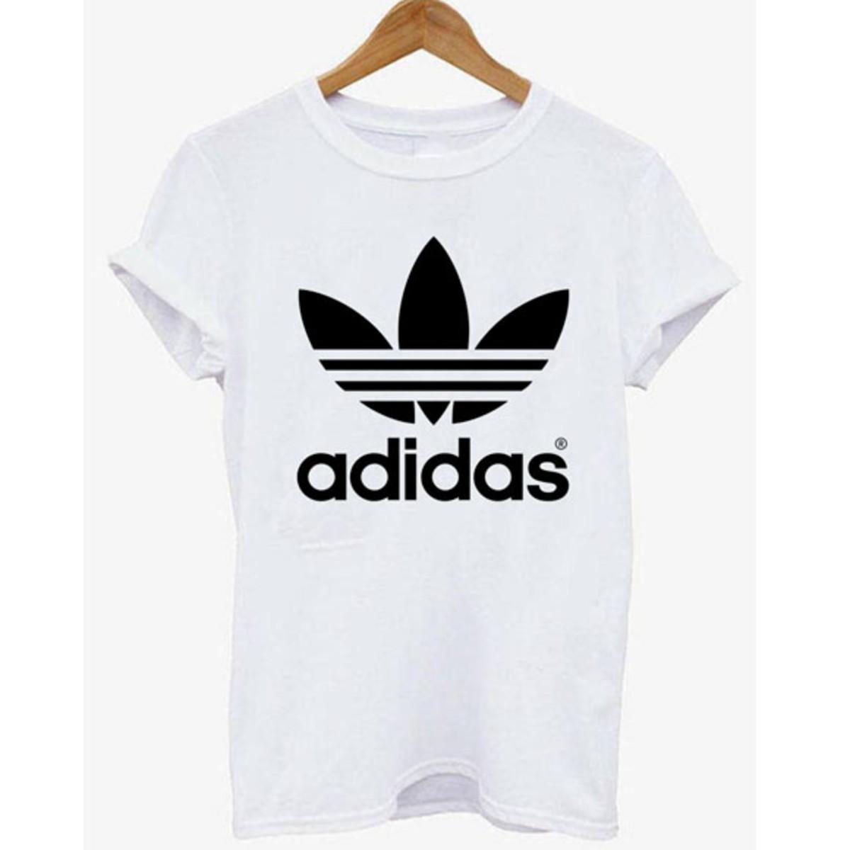 cd01ab529de Camisa Adidas Feminina Branca no Elo7