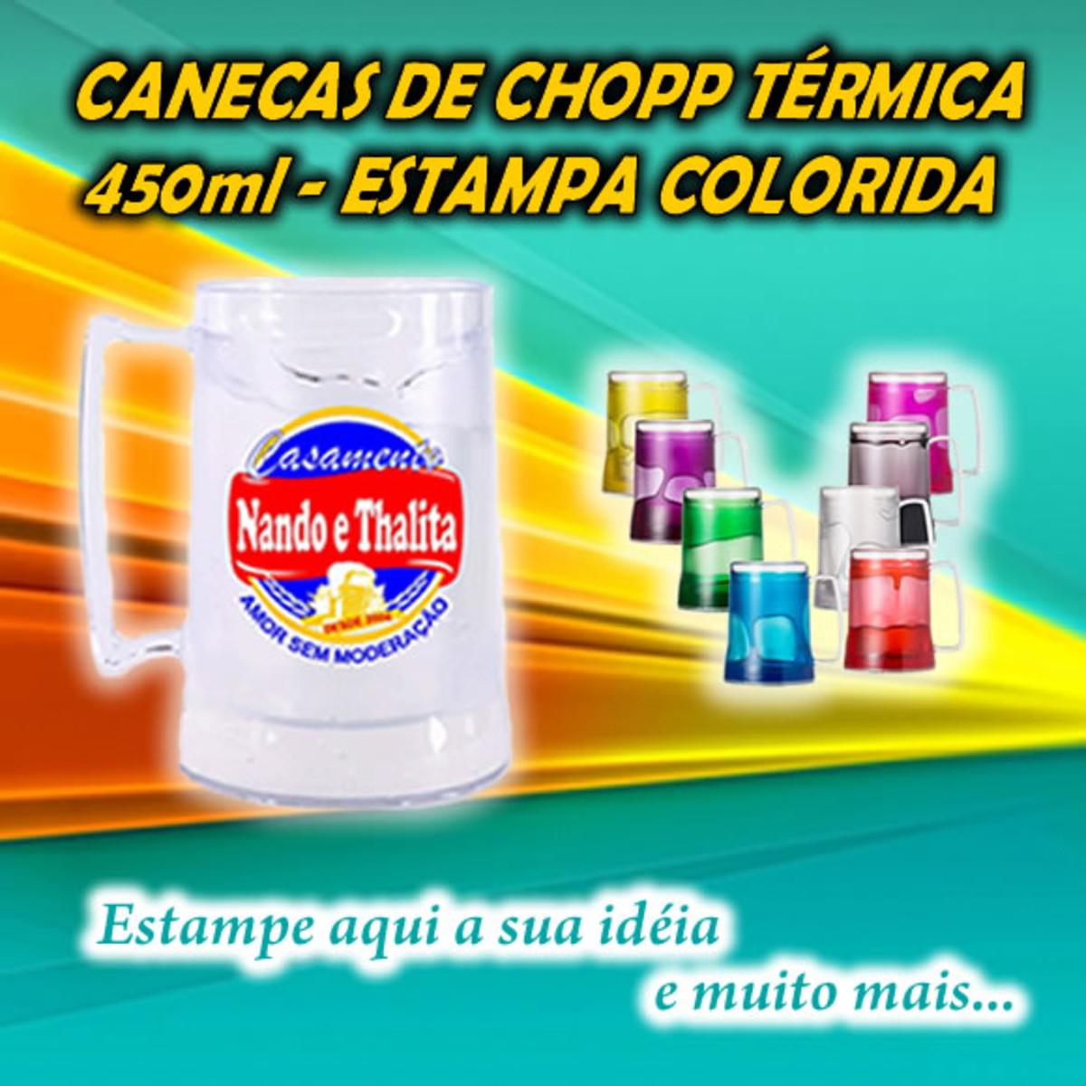 969309122 Caneca Acrílica Gel de Chopp Personalizada - 450ml no Elo7