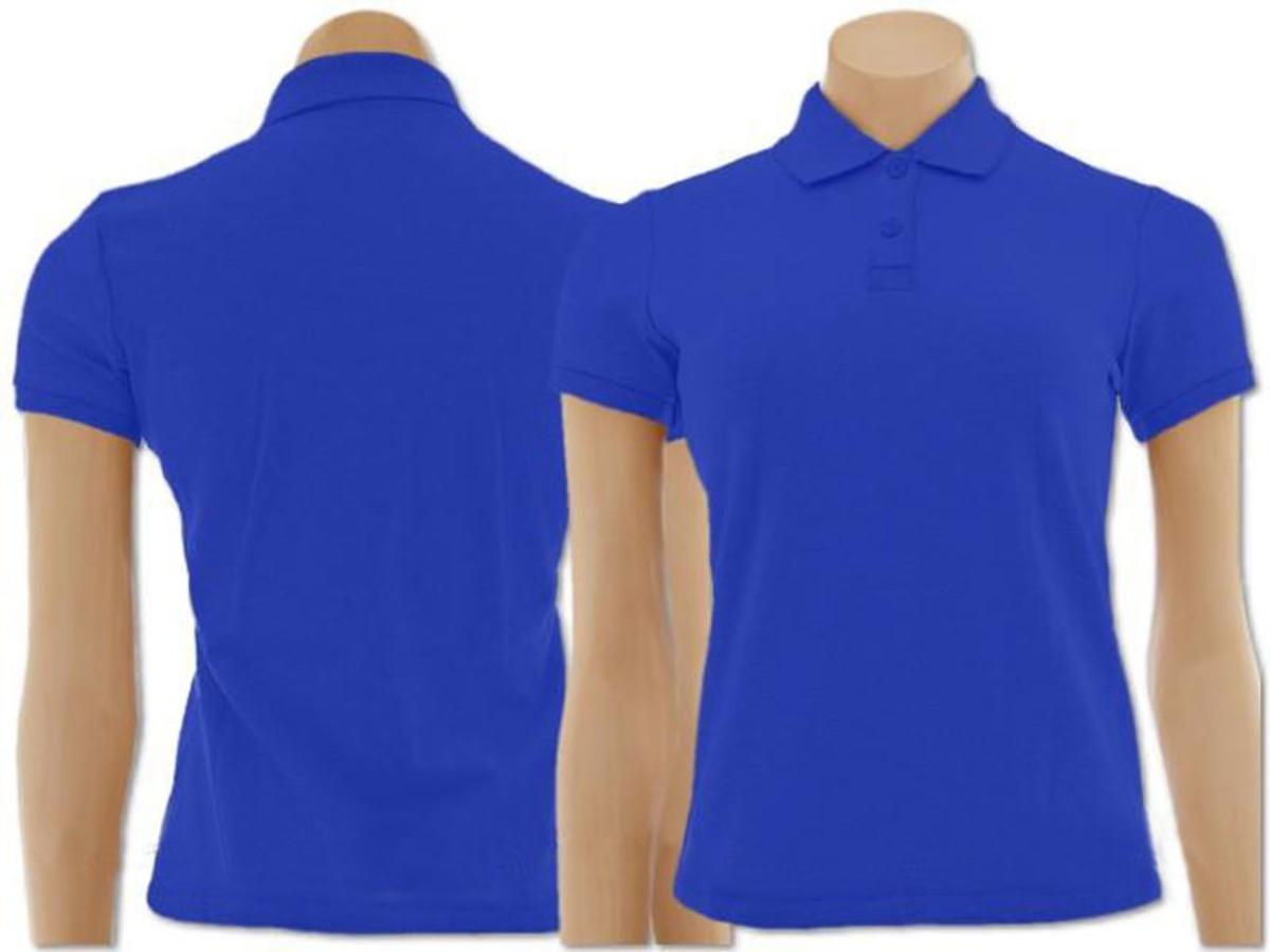 516dd93af9 Kit com 2 Camisetas Gola Polo Azul Roya Masculina e Feminina no Elo7 ...