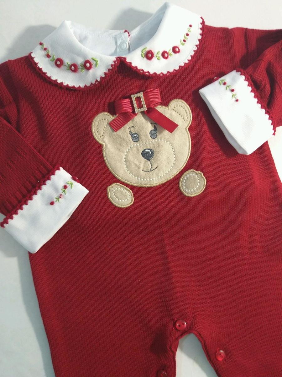 7a6e850769 Macacão de linha luxo menina ursa vermelho s body no Elo7