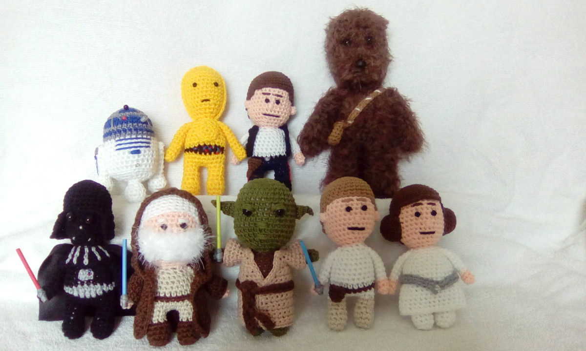 Ooh...my favourite Star Wars characters came to life! | Crochet de ... | 720x1200