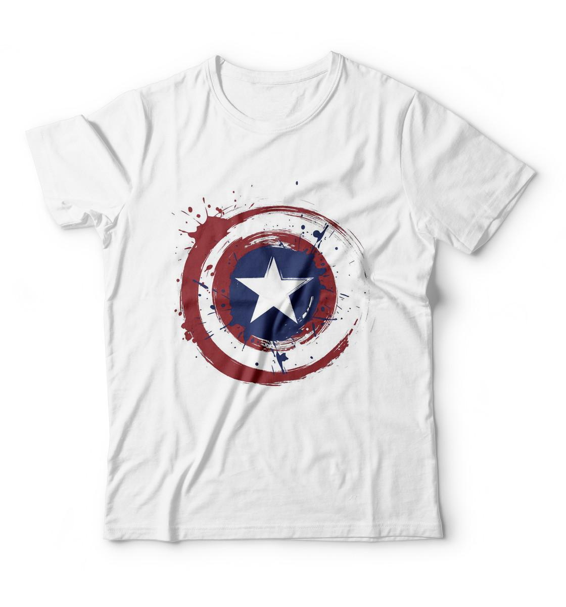 c3b040656 Camiseta Escudo do Capitão América Marvel Filme Vingador no Elo7 ...