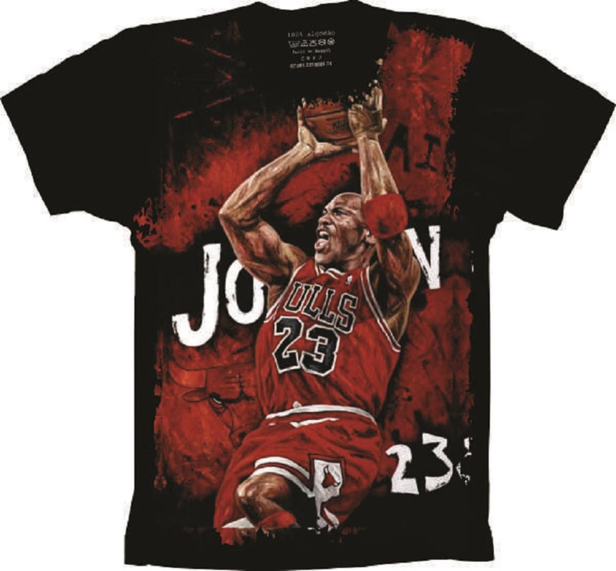 73a7d2ec775 Camiseta Basquete Bulls Michael Jordan no Elo7