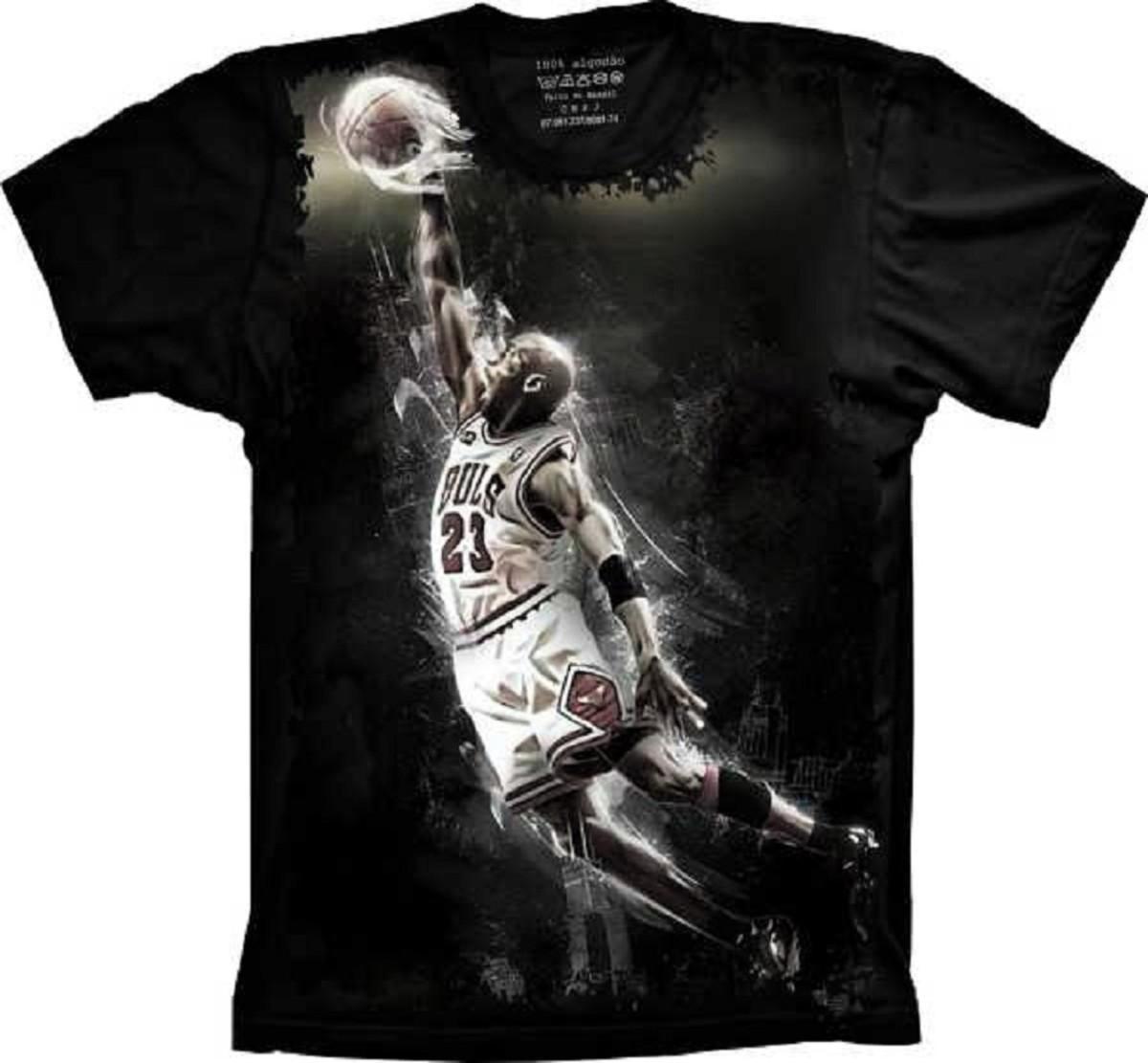 40d71f3091e Camiseta Chicago Bulls Basquete Michael Jordan no Elo7