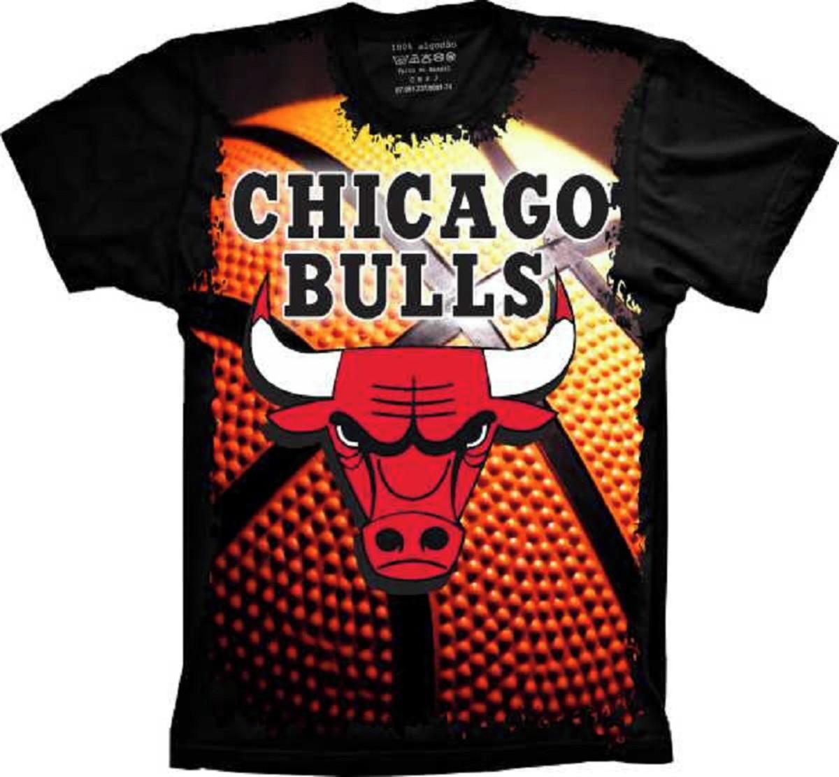 1fe9fb5b2f5 Camiseta Chicago Bulls Basquete no Elo7