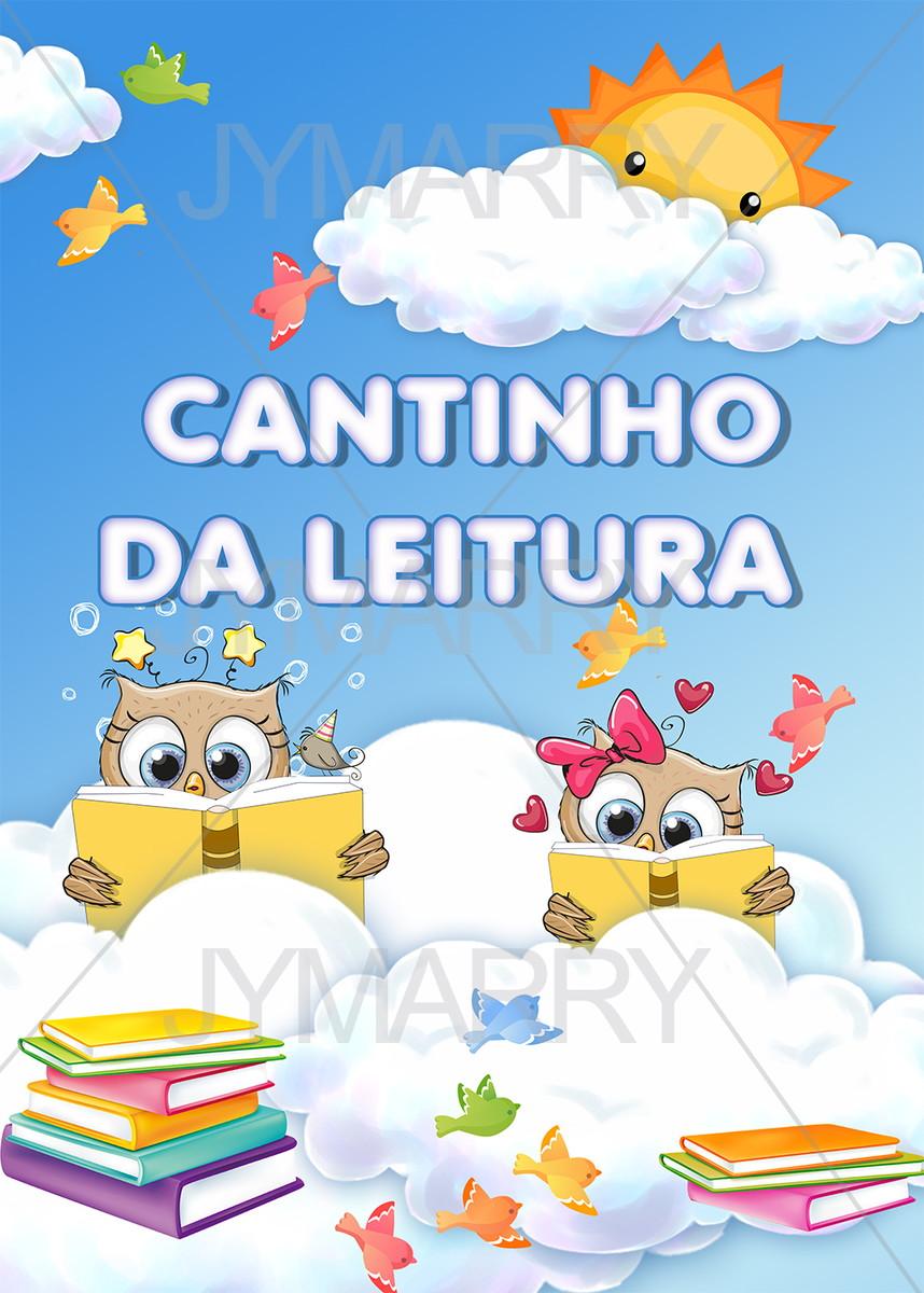 Banner Cantinho Da Leitura Corujas 50x70cm No Elo7 Jymarry