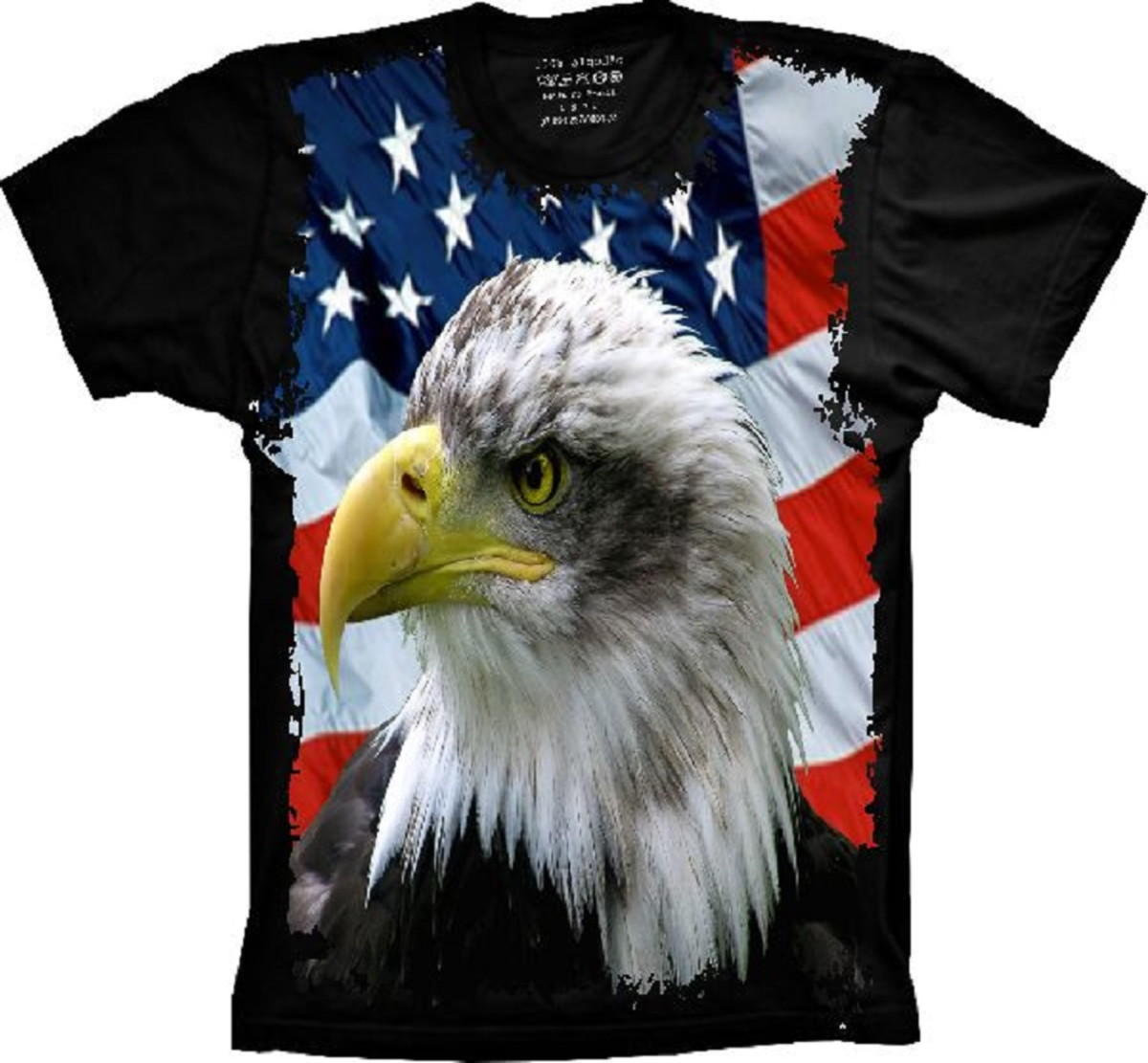 Camiseta Bandeira Dos Estados Unidos Águia no Elo7  42e9659a4b2
