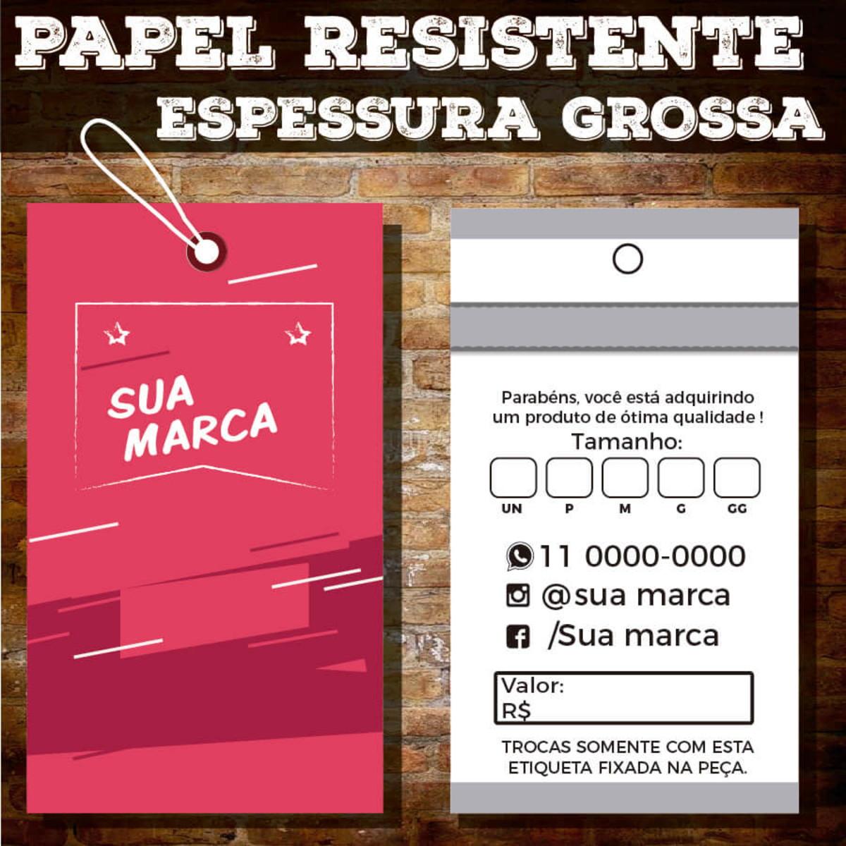 8f661e633c69 Etiquetas de Roupa produto Personalizadas Espessura Grossa no Elo7 ...