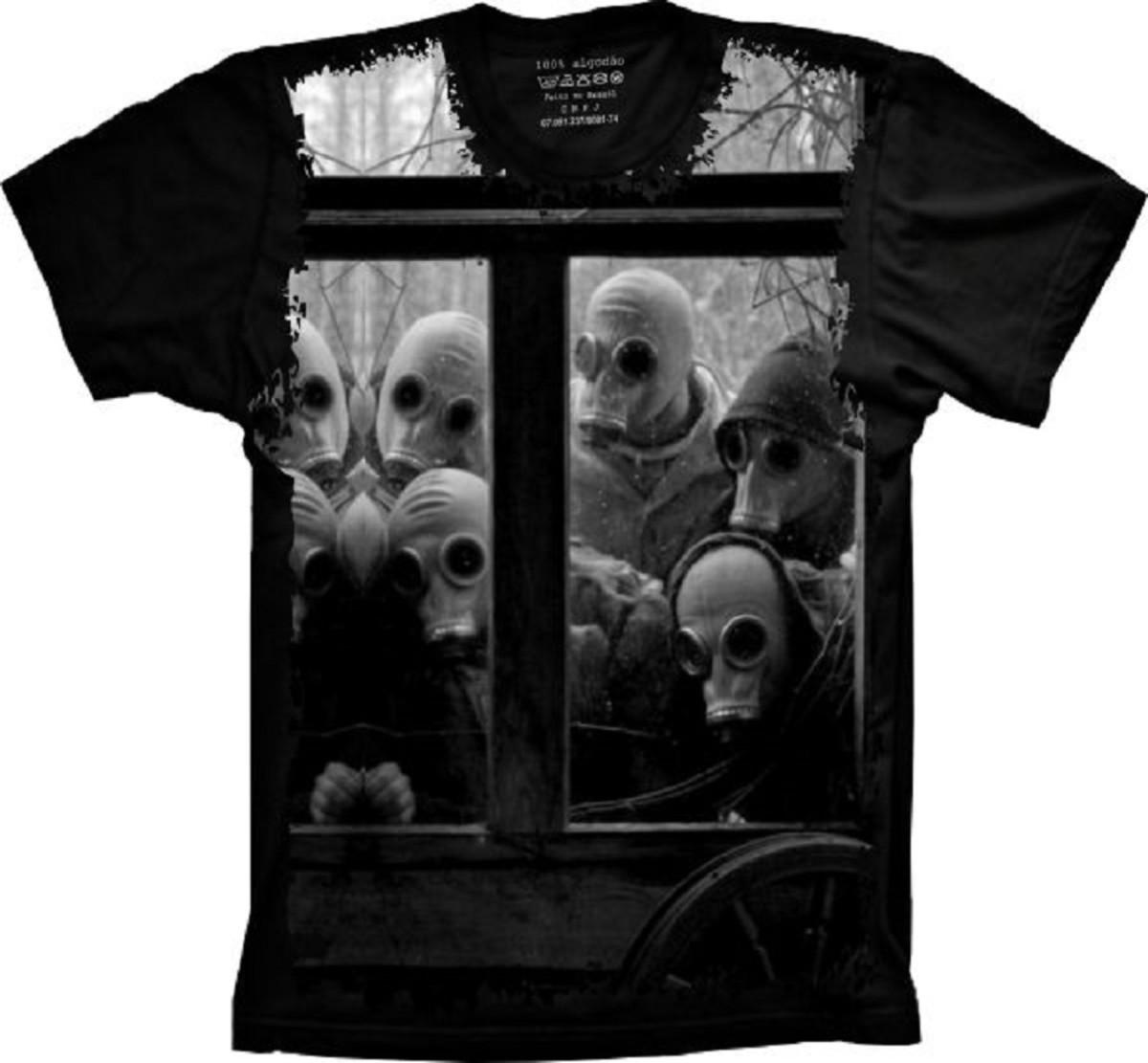 a47e06a15 Camiseta Máscaras Gás no Elo7
