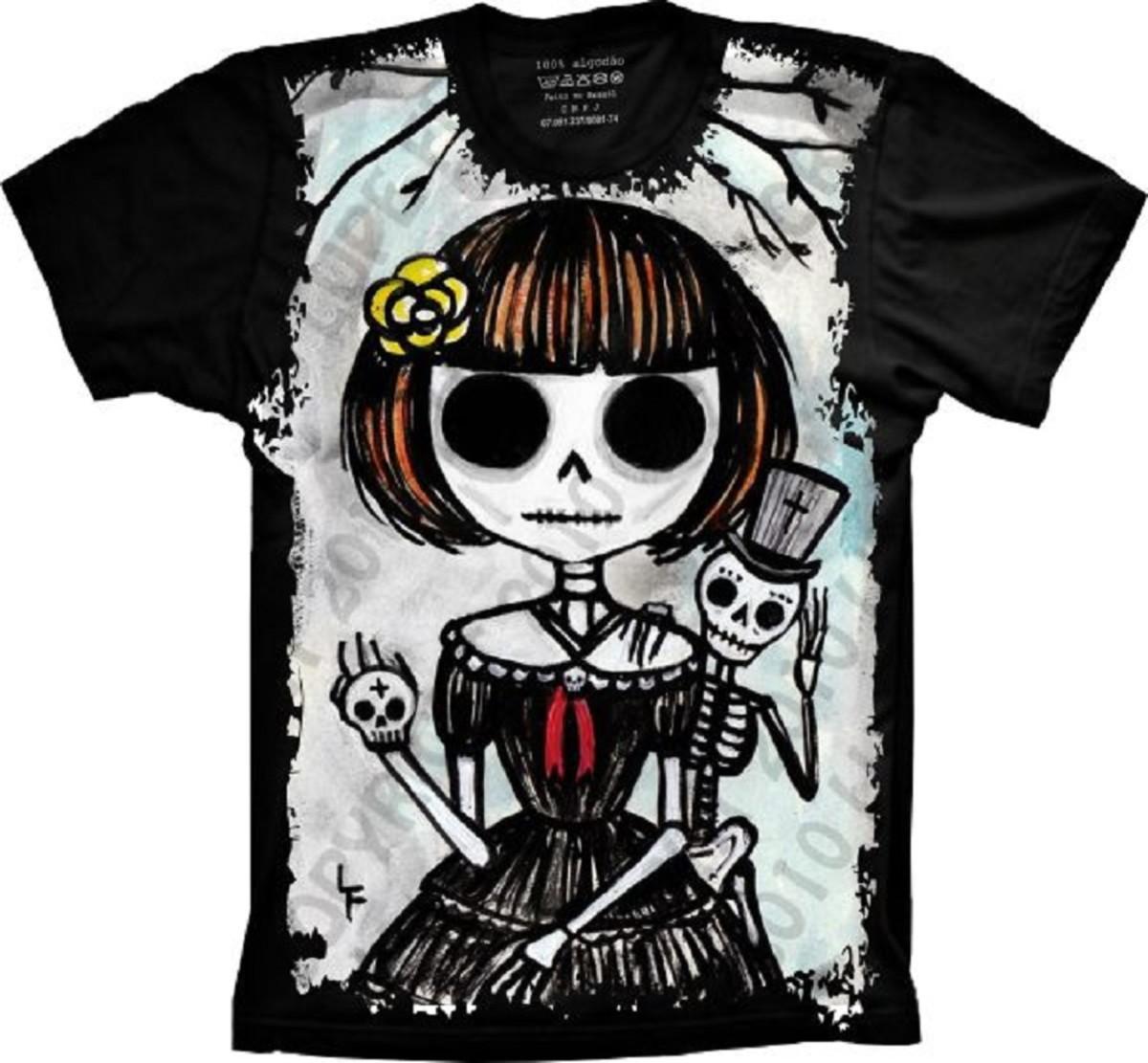 Camiseta Skull Caveira Desenho No Elo7 Camisetas 4fun E8cb39