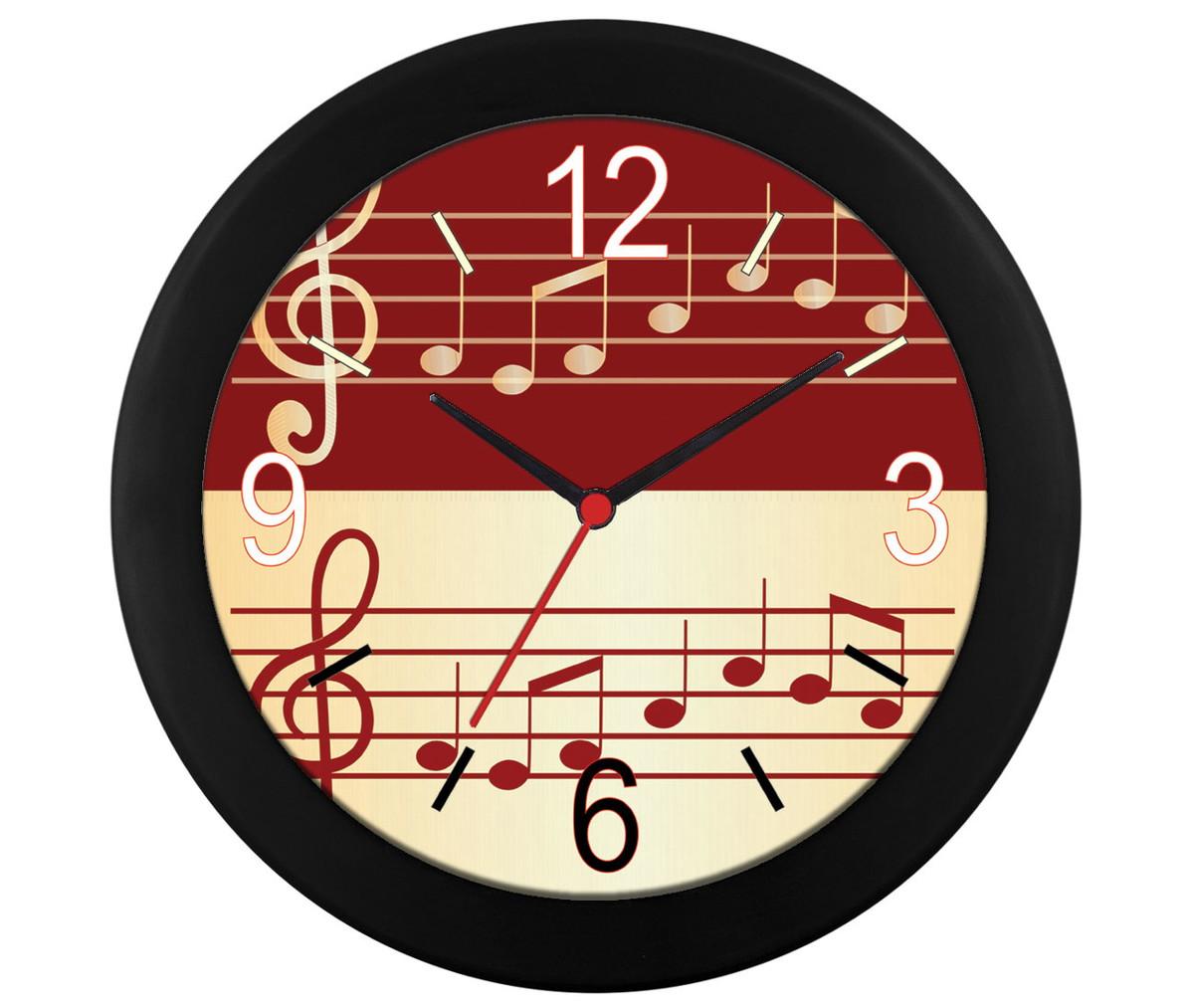 d45662a69e2 Relógio de parede Pauta musical no Elo7