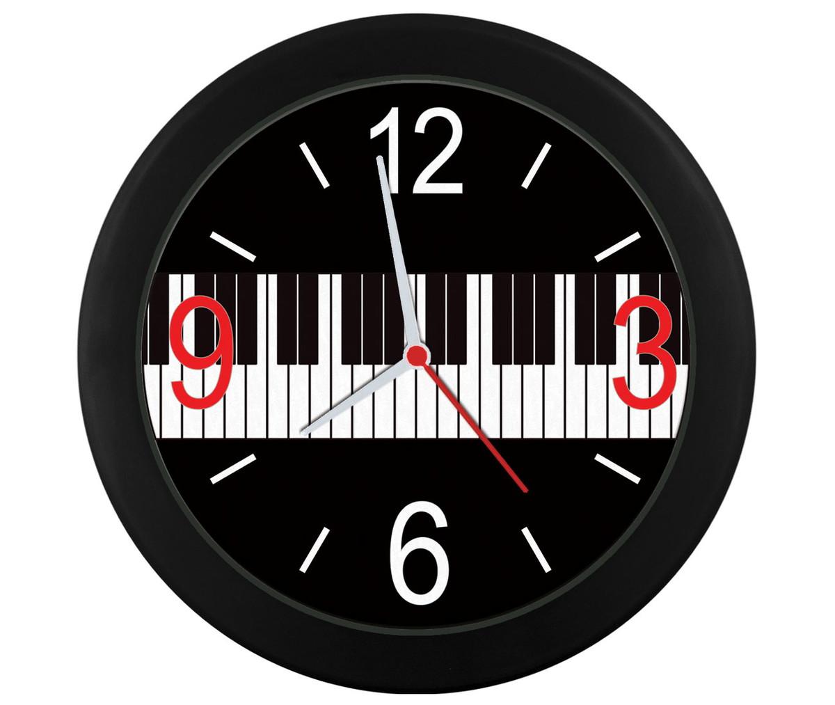 f86c4395b5a Relógio parede Teclas piano no Elo7