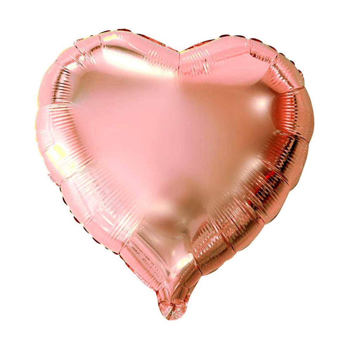 a50e6cc36 Balão Metalizado Coração Rosê 45 45cm no Elo7