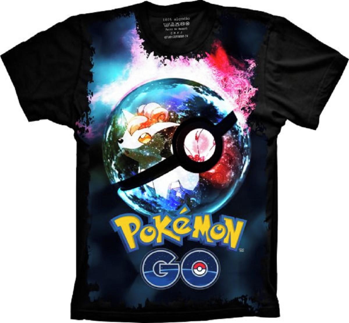 14b2adefcd Camiseta Pokémon Go Pokeballs no Elo7