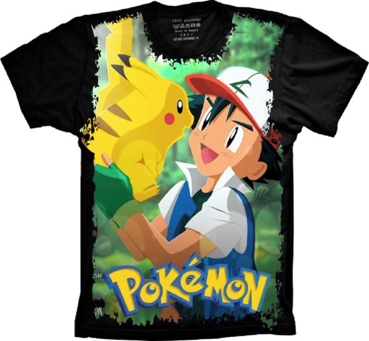 a4ea9e2b66 Camiseta Pokémon Go Ash e Pikachu no Elo7