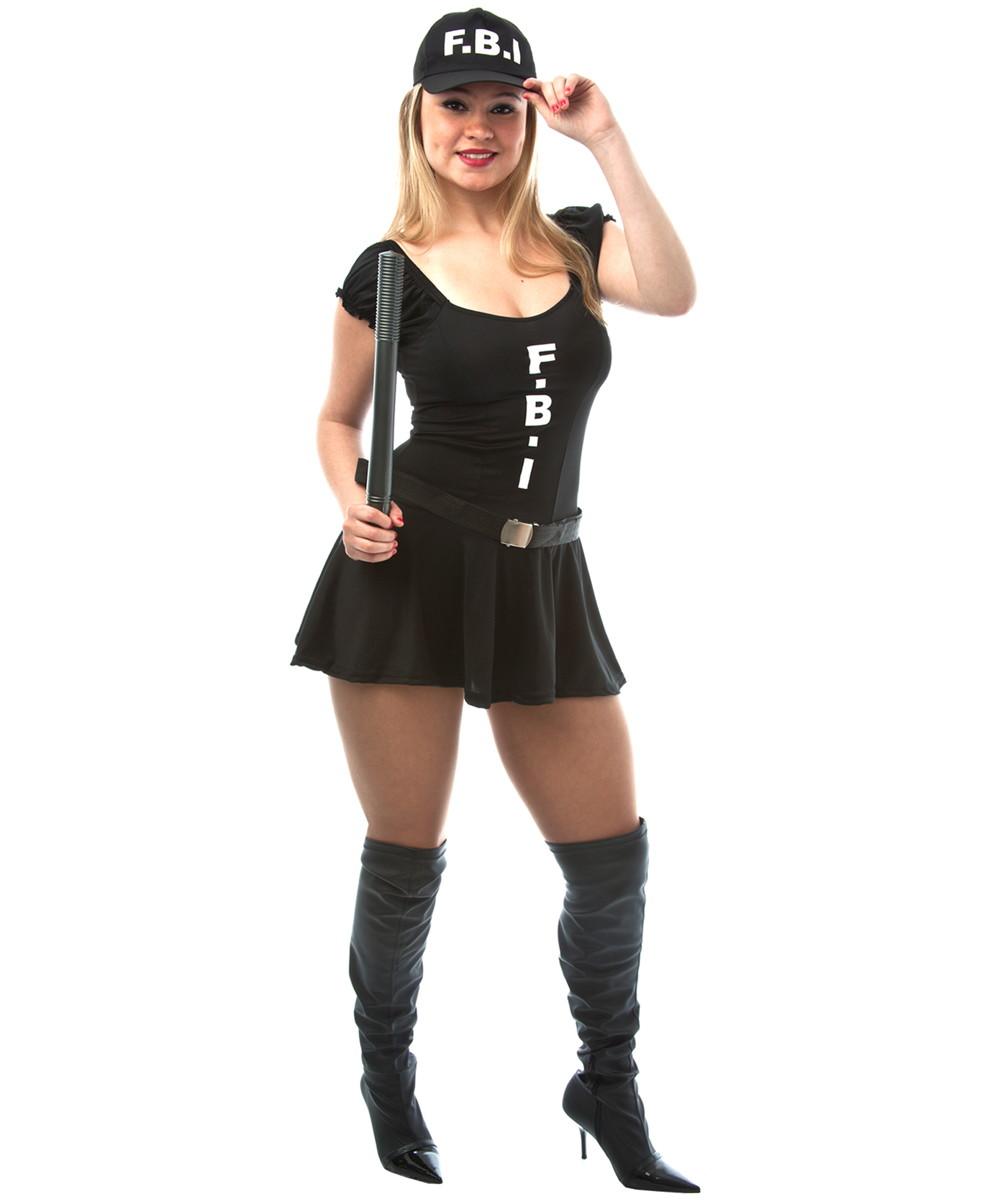 1a2d8a224 Fantasia Policial FBI Feminina Carnaval no Elo7