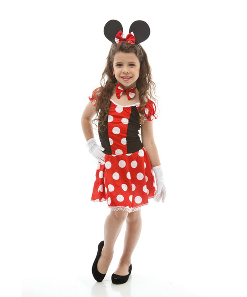 37023fde0cdb37 Fantasia Minnie Infantil Feminina