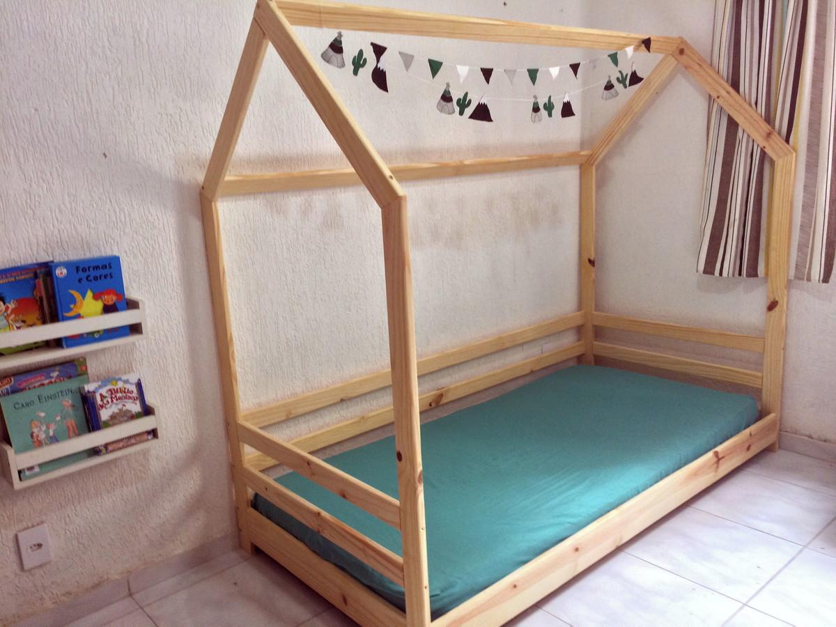 bb975f21ae Berço Cama Casinha Montessori - Grade Dupla no Elo7