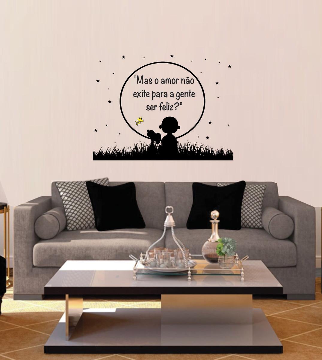 Adesivo Snoopy E Charlie Brown No Luar Frase