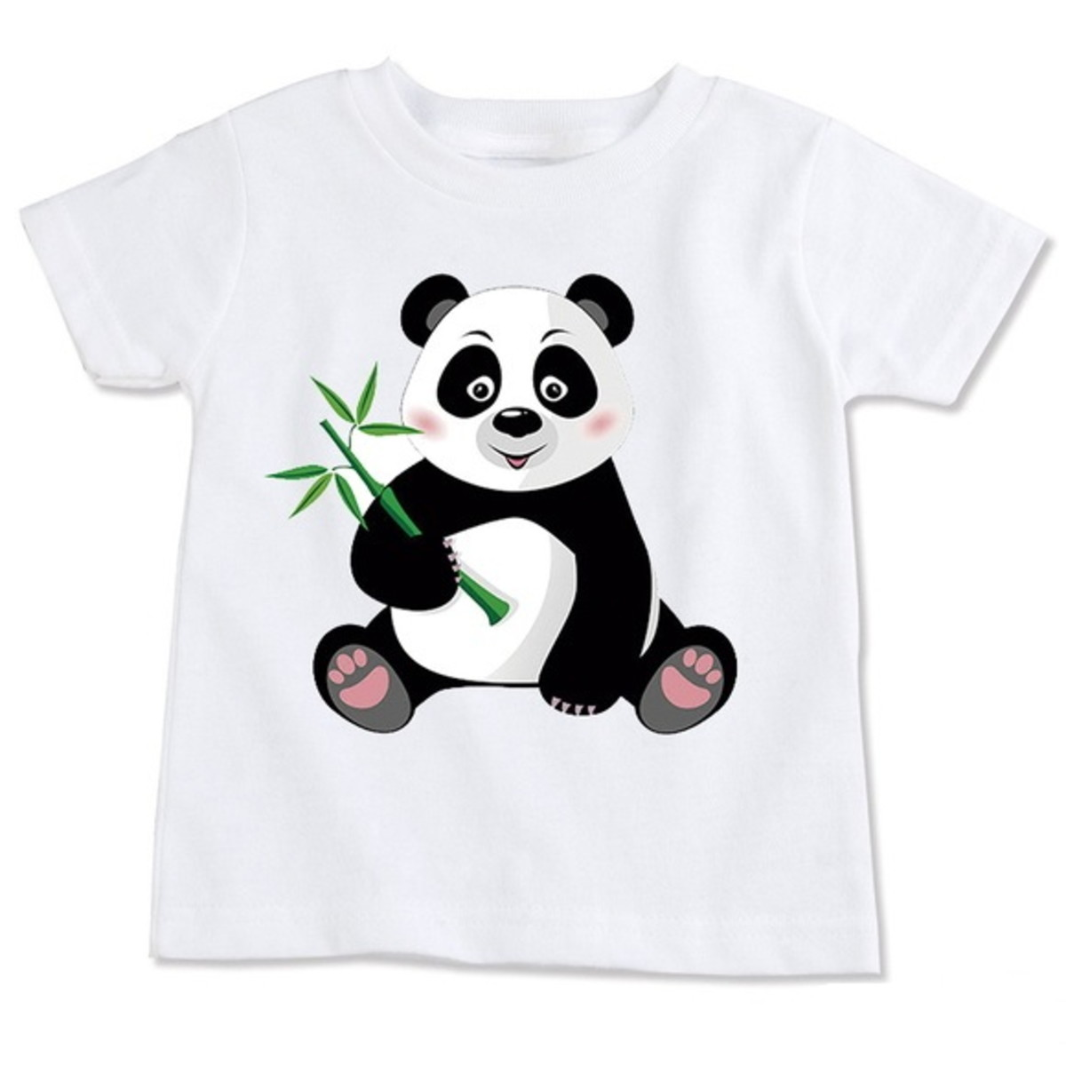 Camiseta Infantil Desenho Panda Fofo Criança