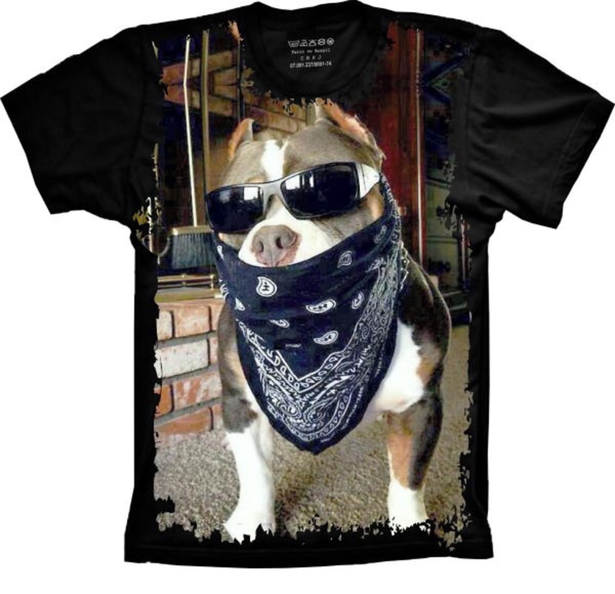 Camiseta Cachorro Pitbull Pit-bull no Elo7  2244d09c75e