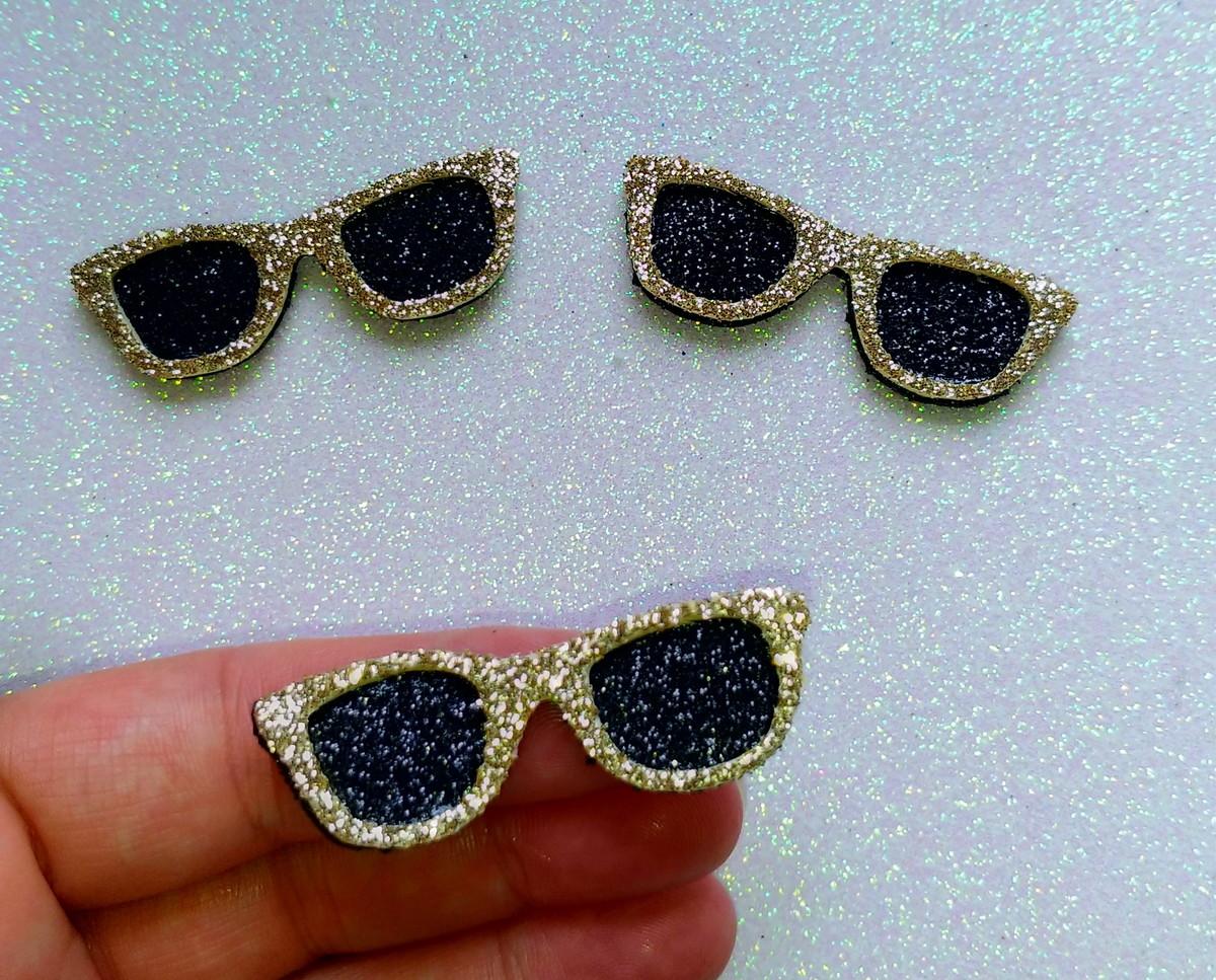 9cc16486c916c Óculos de Sol - EVA (Dourado Glitter) no Elo7