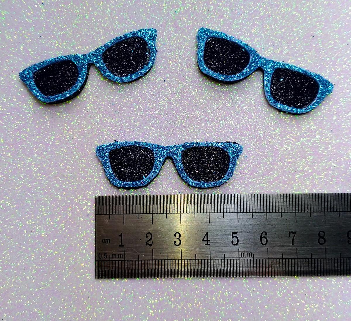 b7efc4b1d87e9 Óculos de Sol - EVA (Azul Glitter) no Elo7