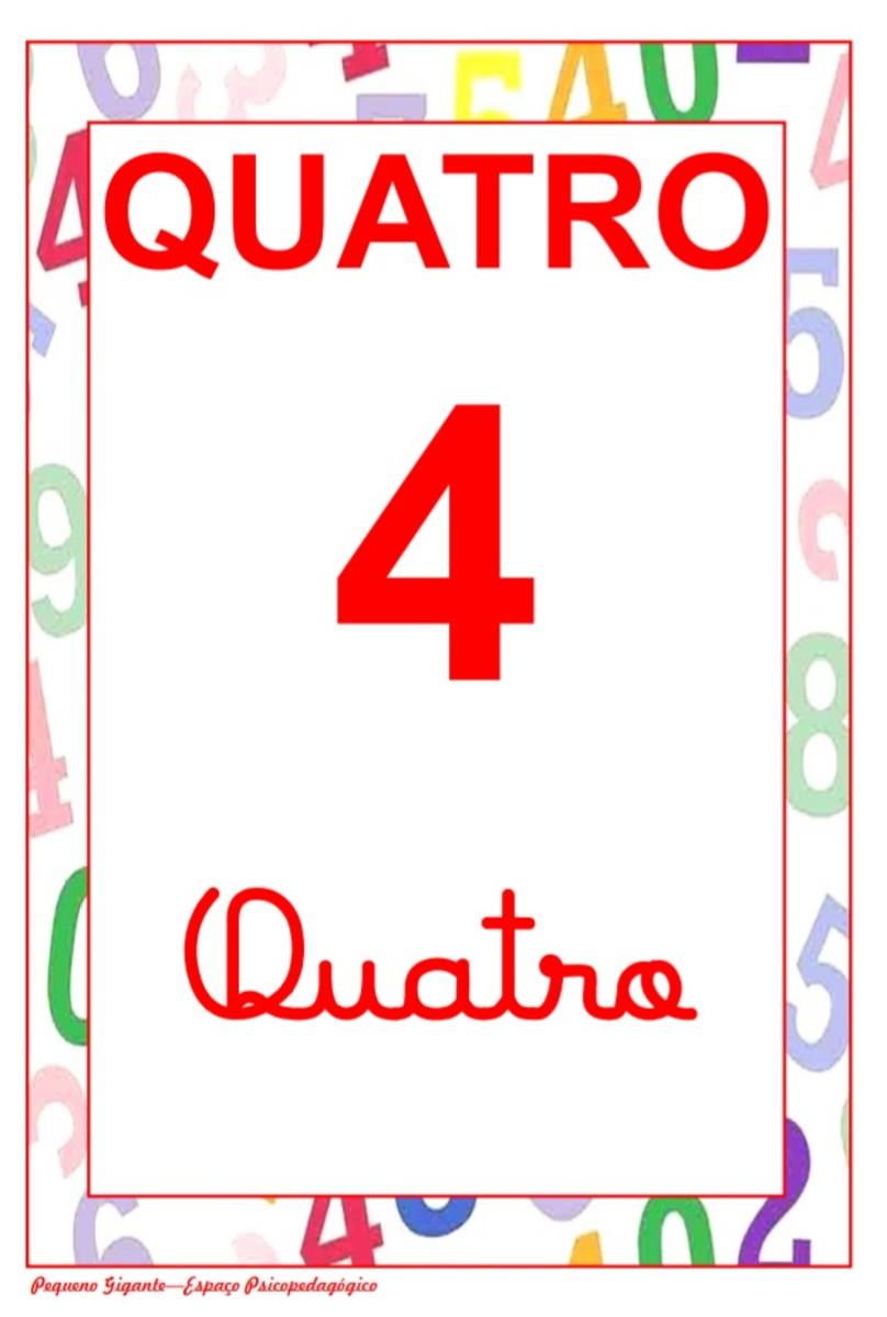 Cartaz Com Numero Escrita Cursiva E Bastao No Elo7 Pequeno