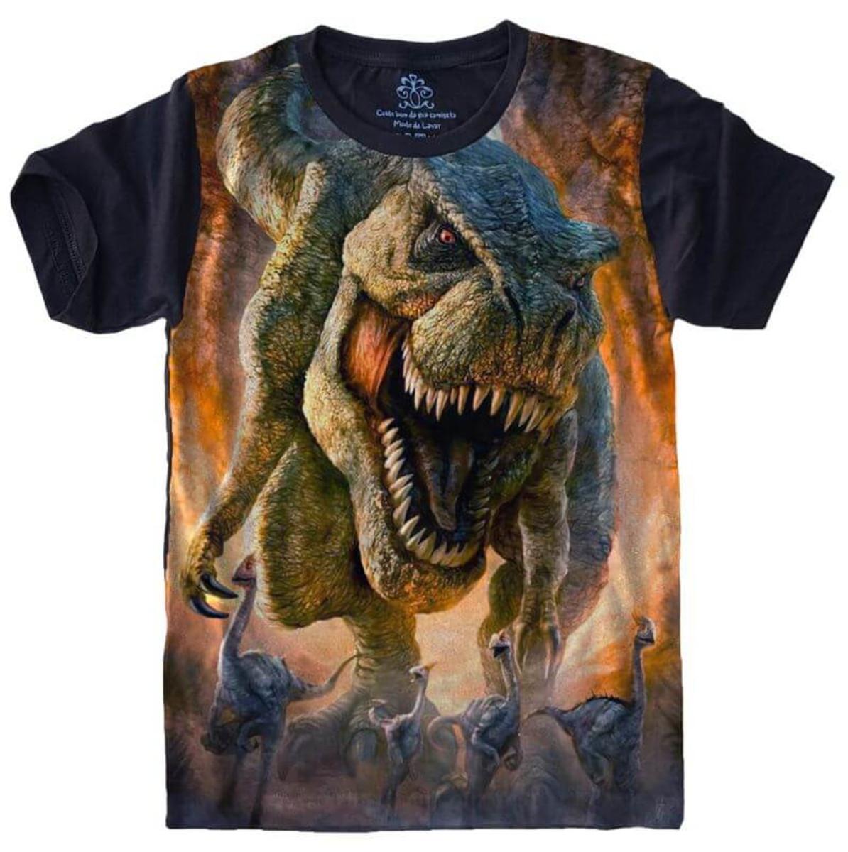 b2b287c805 Camiseta Dinossauro no Elo7