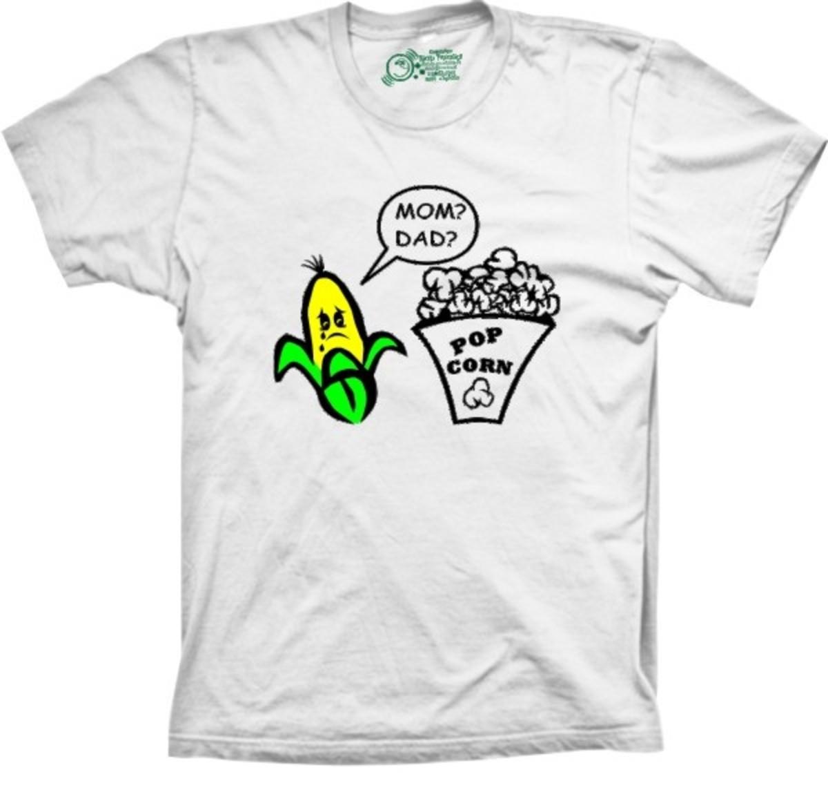 23ab964391e Camiseta Milho X Pipoca Mom Dad no Elo7