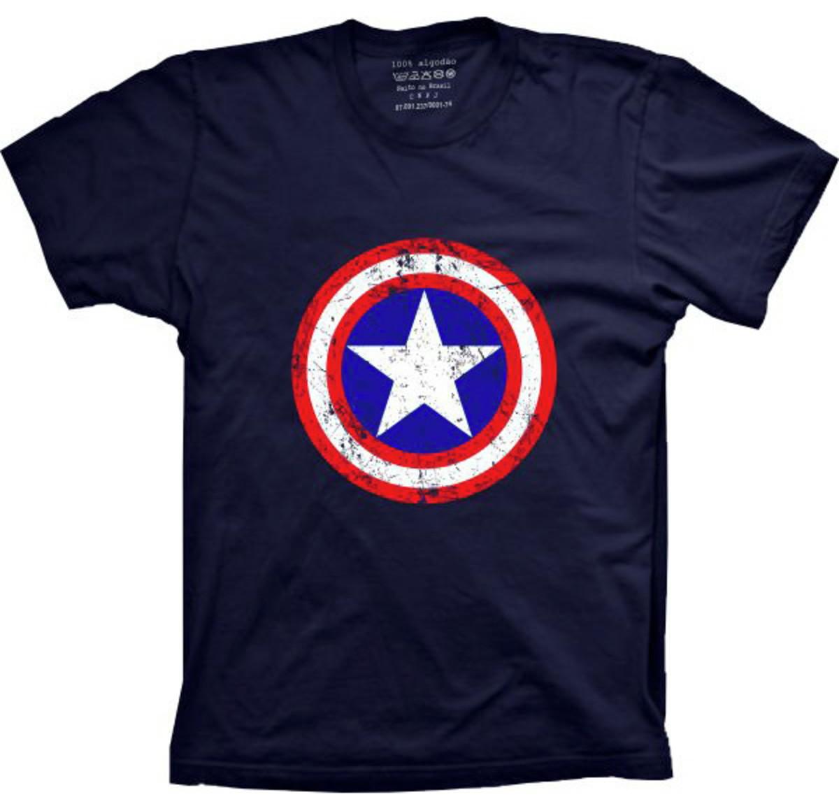 7e0a18df97 Camiseta Capitão América Style no Elo7