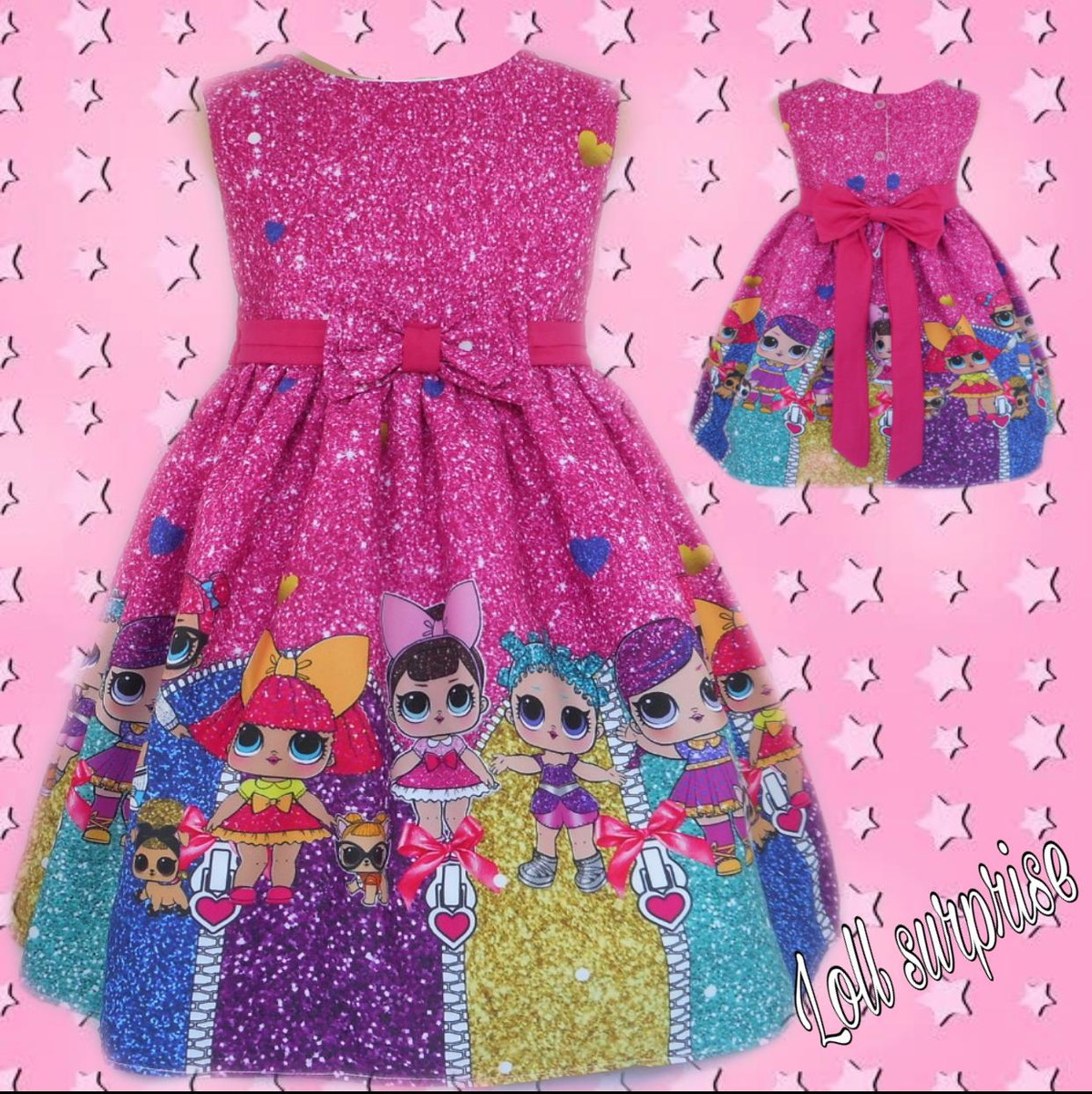 8a849a5de0 VESTIDO LOL SURPRISE GLITTER no Elo7