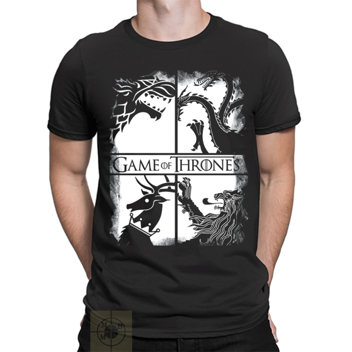 127b8c17f Camiseta Masculina Game Of Thrones Stark no Elo7