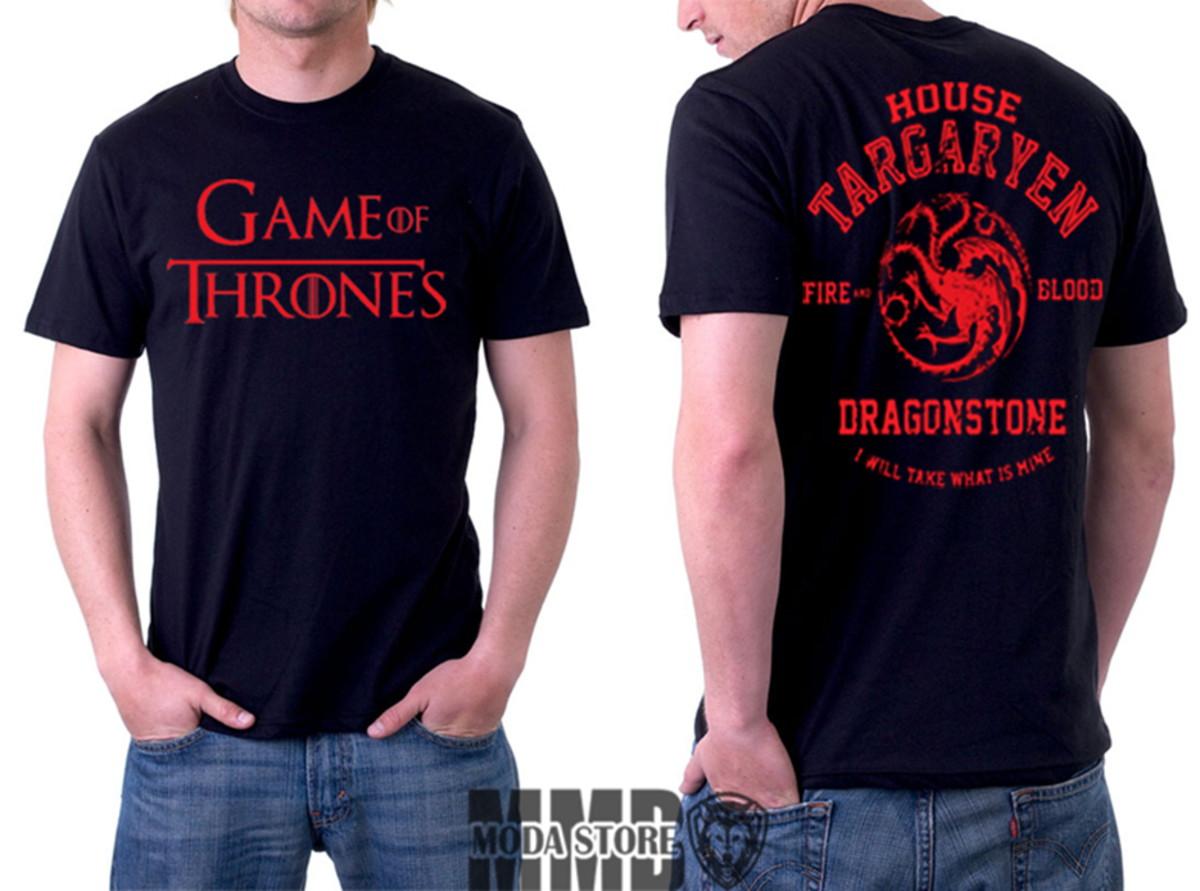 e78d2297f Camisa Camiseta Game Of Thrones Stark Targaryen Got Série no Elo7 ...