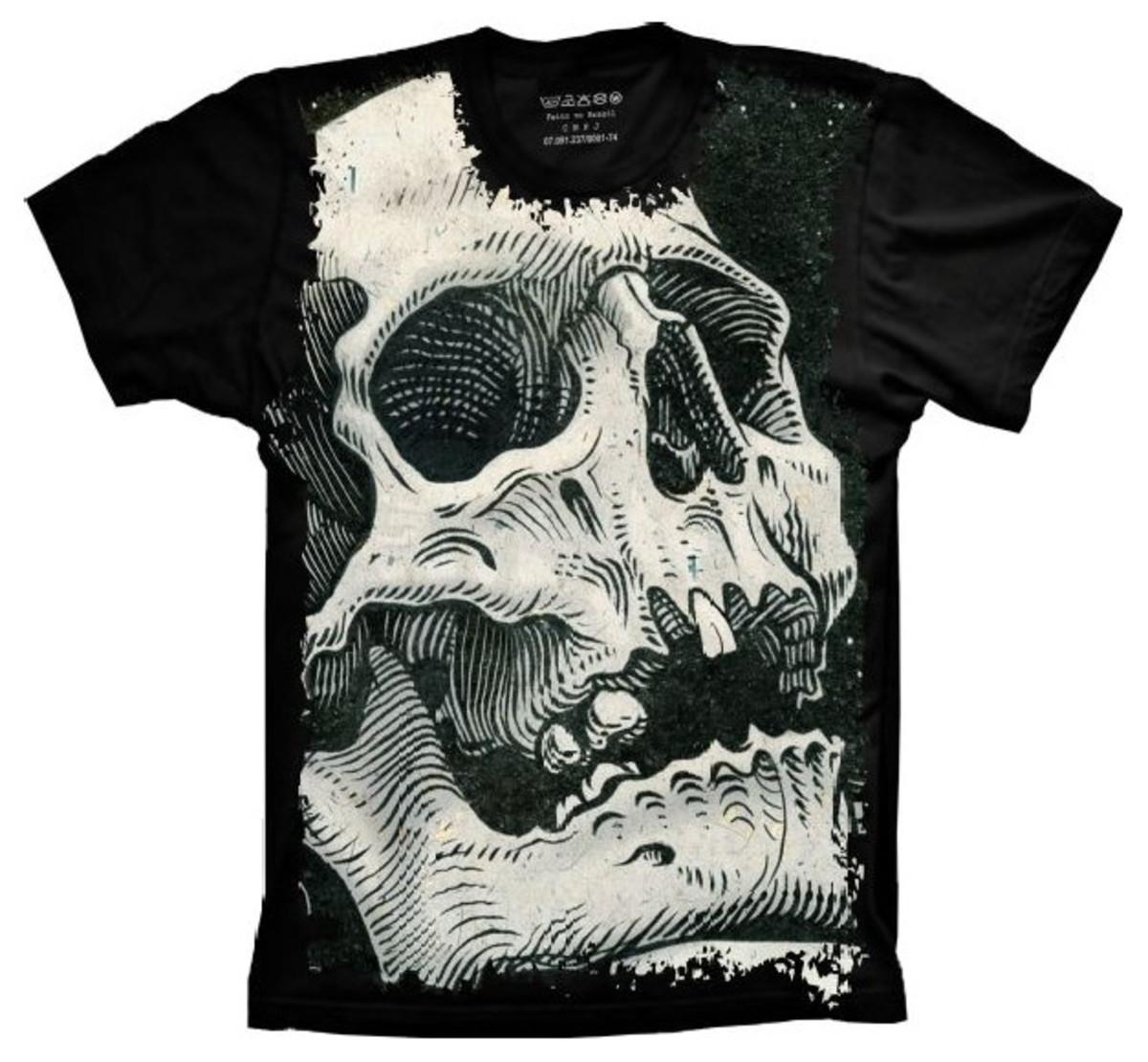 49cce3d0a Camiseta Skull Caveira Vintage no Elo7