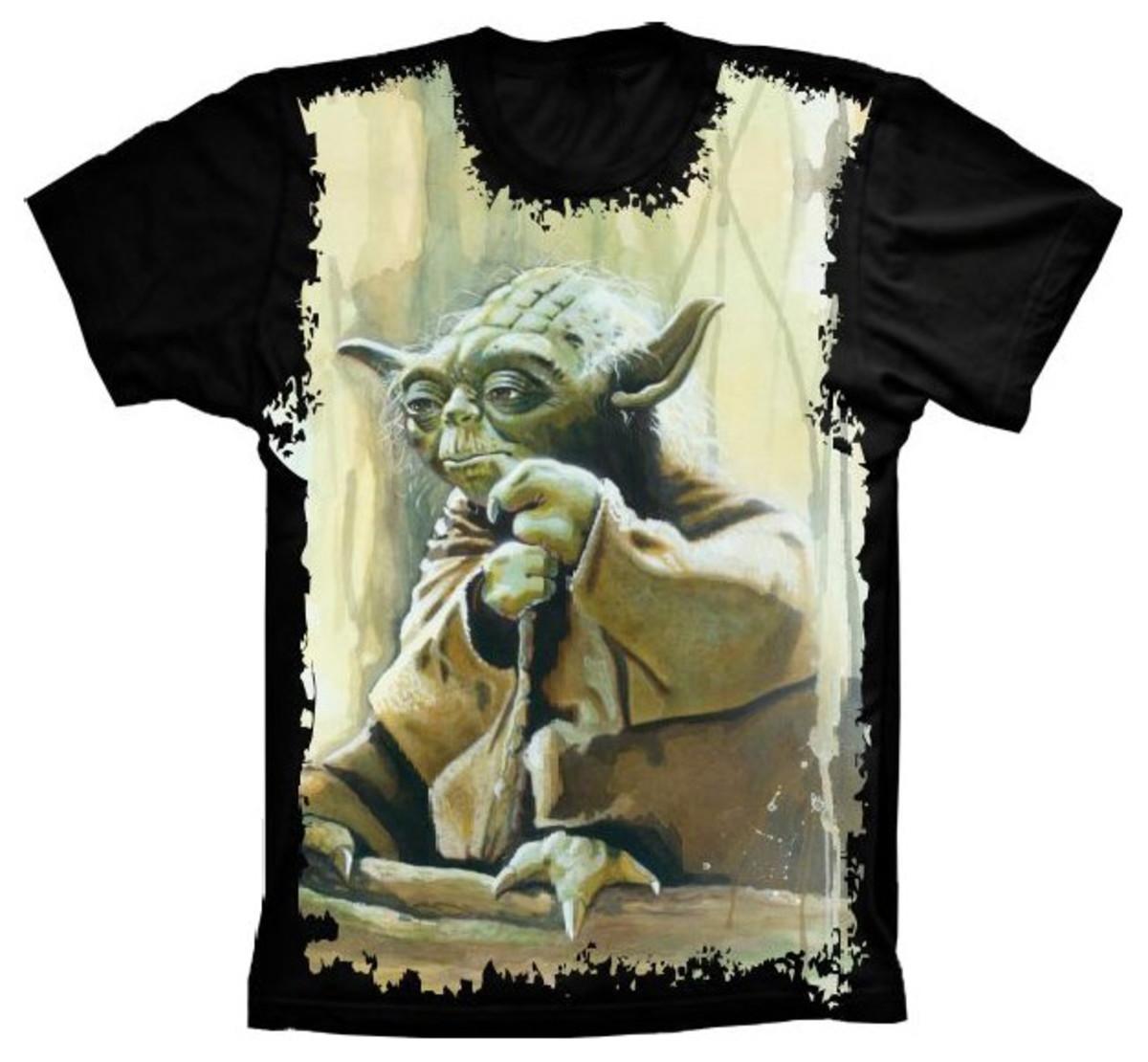 784c654972 Camiseta Star Wars Yoda Jedi no Elo7