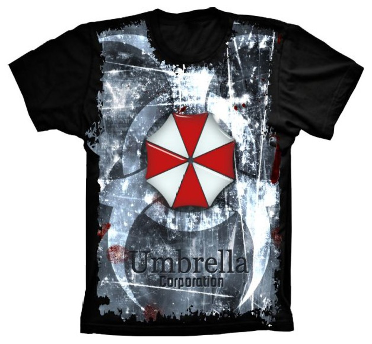 7ecafd492 Camiseta Resident Evil Umbrella Corporation no Elo7